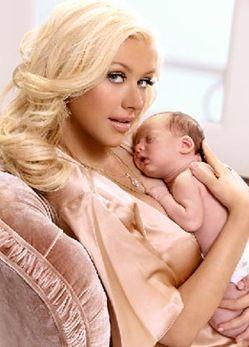 Christina and baby