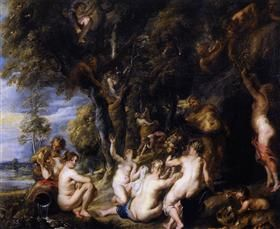 Nymphs and Satyrs - Peter Paul Rubens