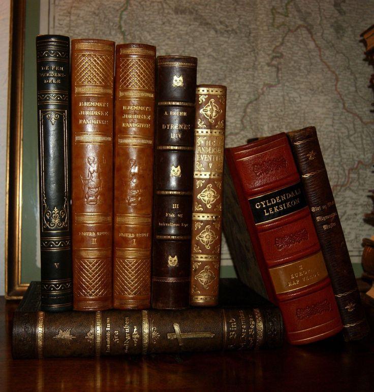 46 Fine Antique Leather Bound Books Gold Decor Old World Photos | eBay