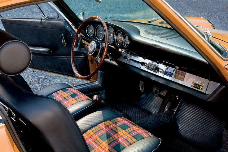Porsche. Love the retro color and seats.