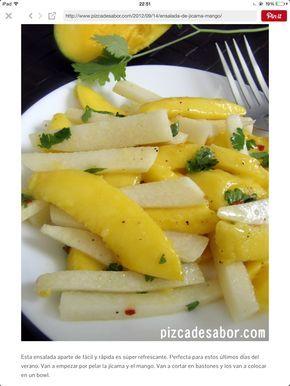 Ensalada de mango y jícama bien fresca!