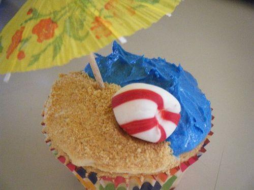 beach party cupcakes: Cute Cupcakes, Cupcakes Ideas, Beaches Parties Cupcakes, Party Cupcakes, Beaches Them Cupcakes, Beaches Cupcakes, Cupcake Ideas, Cupcakes Beaches, Cupcakes Rosa-Choqu