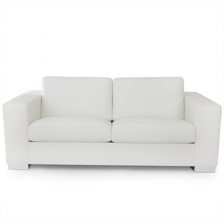 """""""Massimo"""" two seater #sofa by Poltrona Frau #twoseater #white #leather"""