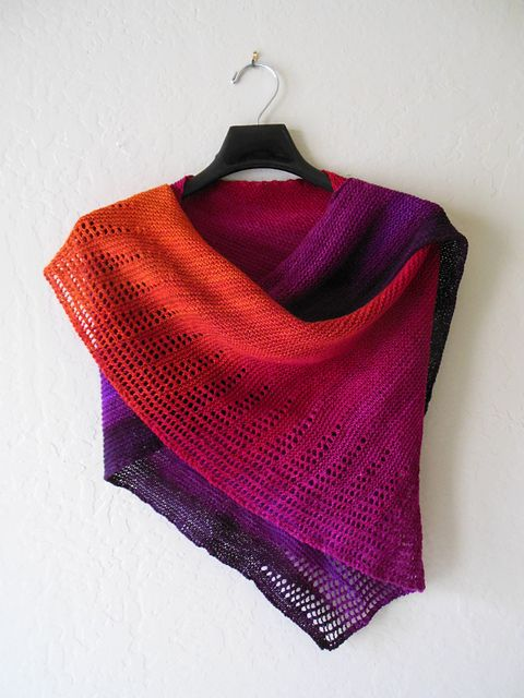 This is the kind of thing you can do with a wonderful hand-dyed yarn!  Ravelry: roadrunnerknitter's Arizona Sunset