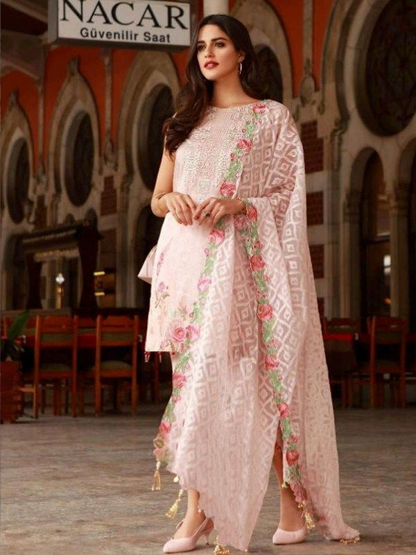 1a107dff54 Embroidered Pure Cotton Pakistani Salwar Kameez in Blush Are you  researching for quality Elegant Punjabi Suit and Elegant Designer ladies Punjabi  Suit in ...