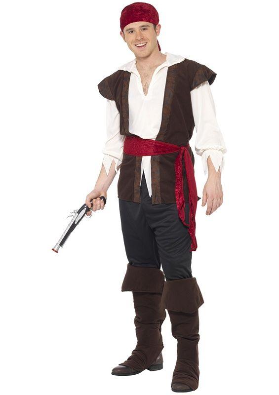 Strój Zadziornego Pirata gotowego na każda wyprawę. Przebranie doskonałe na imprezę w stylu pirackim lub bal karnawałowy.