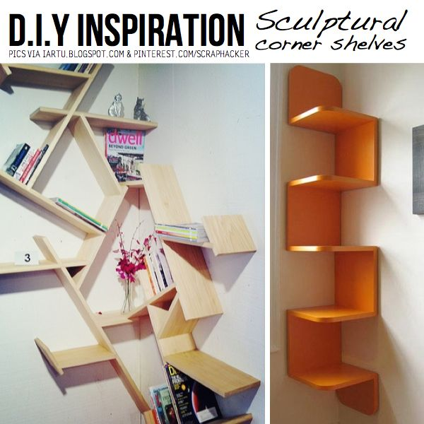http://media.scraphacker.com/2012/08/sculptural-shelves.jpeg  (I love this corner shelf on the right...brilliant!)
