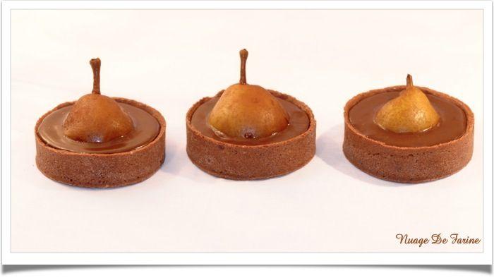 Tartelettes chocolat-poire