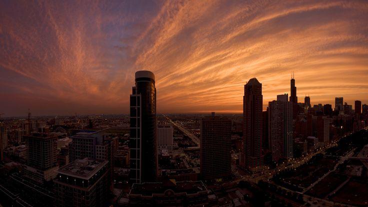 Sunset Urban City