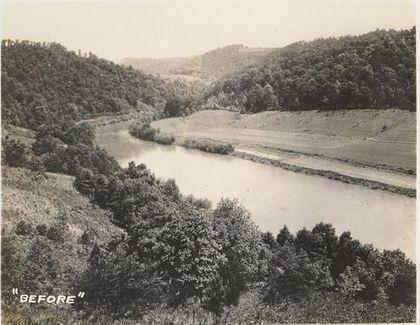 Norris Lake Tennessee Little Cove Creek Before Norris Dam