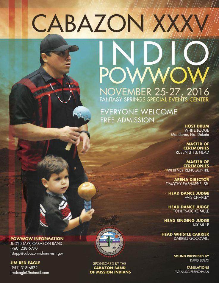 Cabazon Indio Pow Wow - November 25 - 27, 2016 at Fantasy Springs Resort Casino