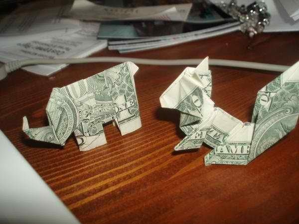 How to make origami elephant out of money - photo#38