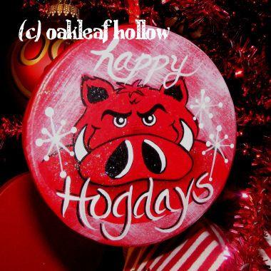 Arkansas Christmas Ornament Razorbacks Hog WHoOoO PIG SoOoOiE ...