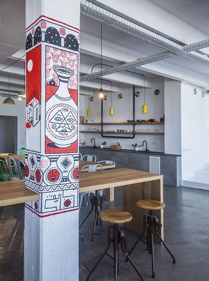 Pillar design, JELLYBTN Offices - Tel Aviv