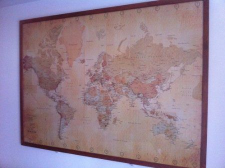 amazoncom vintage world map maps giant poster print 55x39 college giant poster