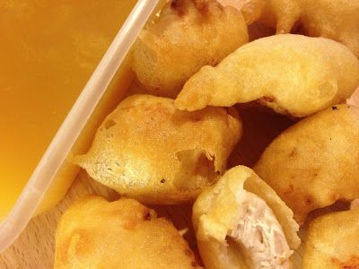 Crispy Gluten Free Battered Chicken Balls with Sweet and Sour Sauce