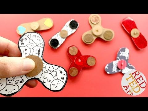 Easy Fidget Spinner DIY (Free Template) - Science Fair Project Idea - Red Ted Art's Blog