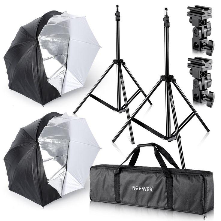 "104.09$  Watch here - http://ali4j1.worldwells.pw/go.php?t=32788847523 - ""Neewer Studio Digital Flash Mount Two Removable Black Cover Umbrella Kit 33""""/84cm for Canon 430EX II/580EX II/Nikon SB600/SB800/"" 104.09$"