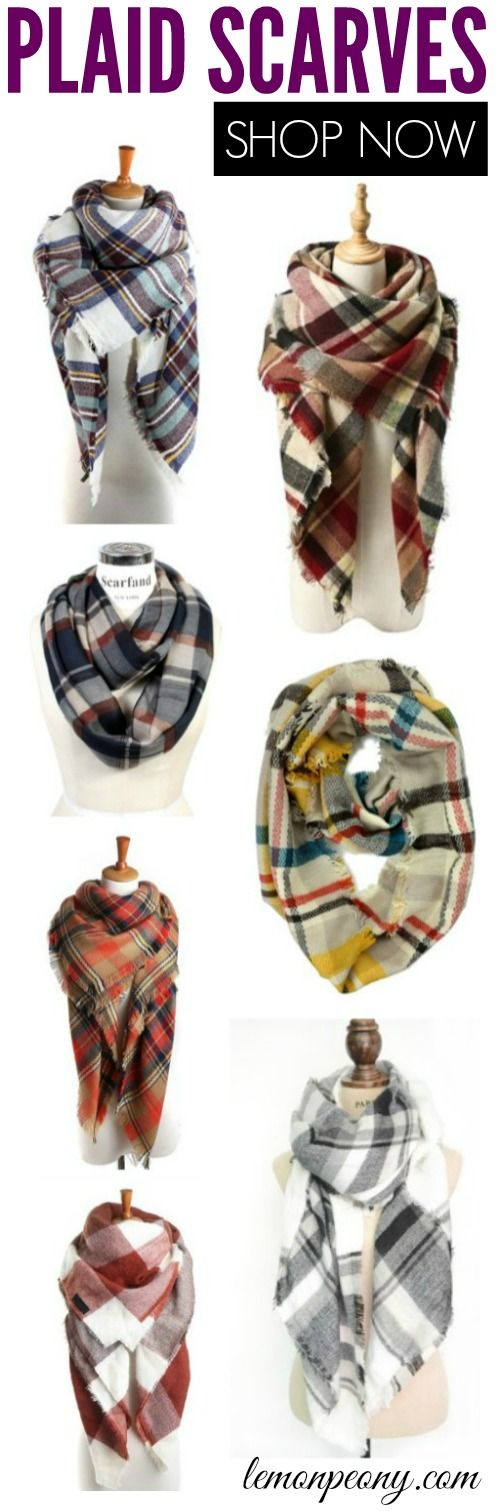 Cheap Plaid Scarves for Fall! Here are my new favorite styles and trends for Fall and Winter!