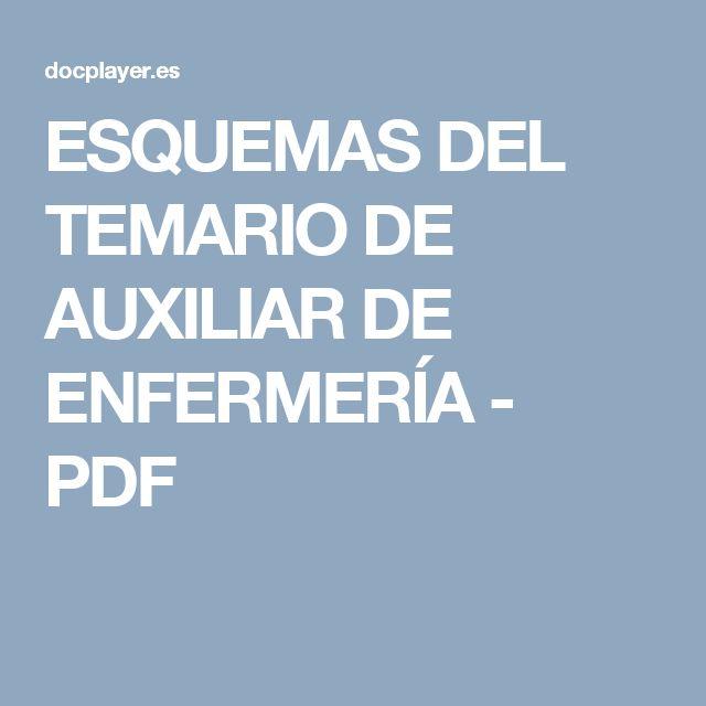 ESQUEMAS DEL TEMARIO DE AUXILIAR DE ENFERMERÍA - PDF