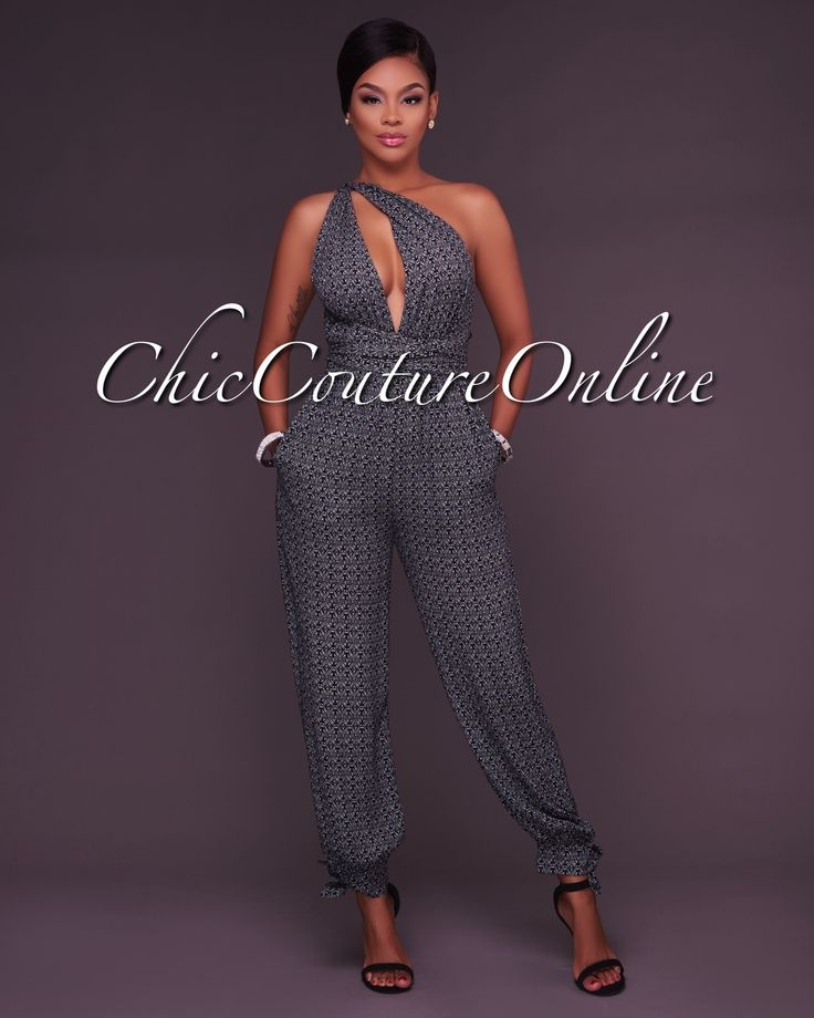 Chic Couture Online - Tarja Black and White Printed Multi Way Jumpsuit,  (http://www.chiccoutureonline.com/tarja-black-and-white-printed-multi-way-jumpsuit/)