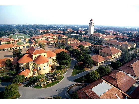 Stanford University: Arial View of Campus