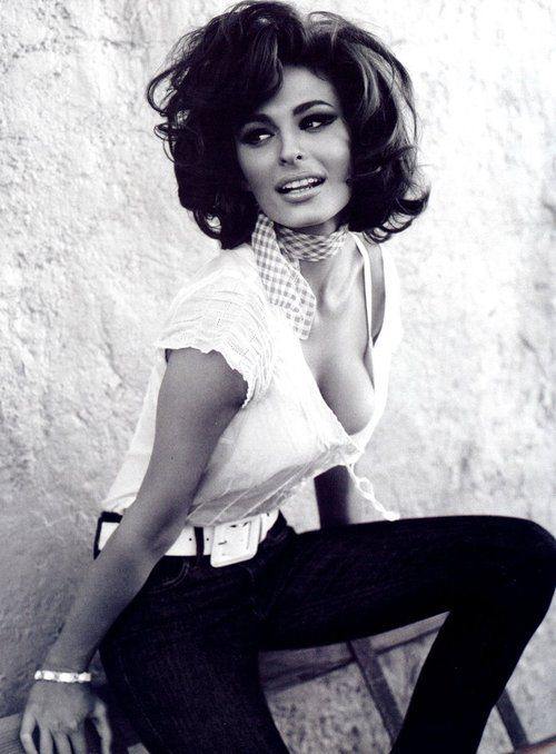 "Love her Sophia Loren look. Wish I could do this... ""Channeling Sophia Loren for Guess Jeans"""
