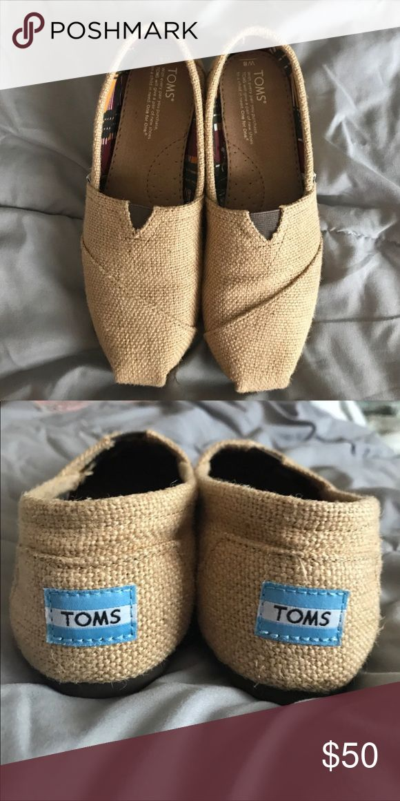 NWOT Burlap Toms Brand new never worn Burlap Toms Toms Shoes Flats & Loafers
