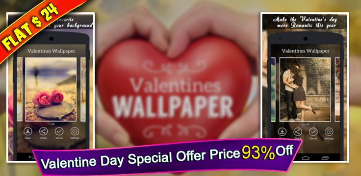 #ValentineOffer #ValentineAppSourcecode Customize the best live #ValentinesWallpaper app and build it with your own ideas. Now only $24. Don't miss it.