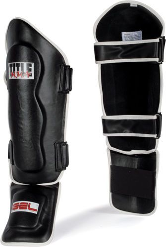TITLE MMA GEL World Shin Instep Guards Sparring Equipment Kickboxing Muay Thai #Title