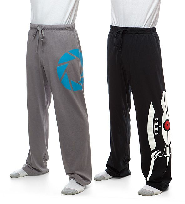 These Portal 2 Unisex Lounge Pants are Aperture-approved. Choose the ones with the Aperture Logo or the Turret Graphic.