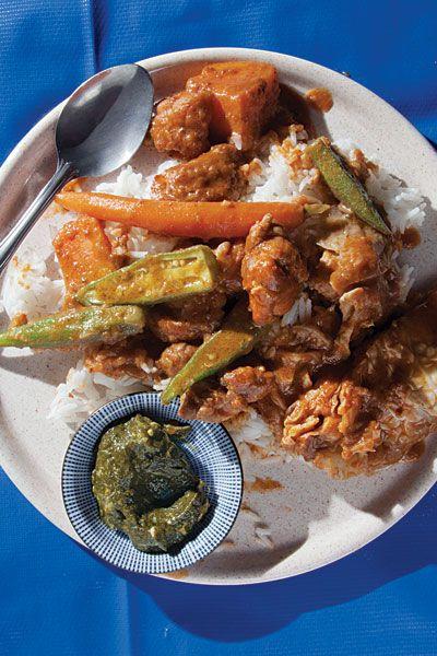 màfe ginaar (Senegalese peanut and chicken stew)