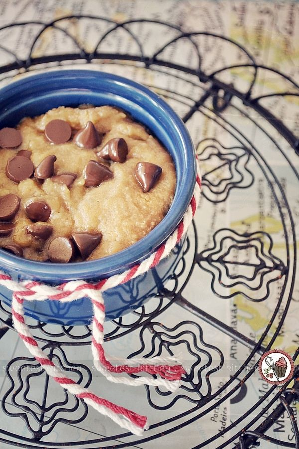 A simple, single-serving, gooey chocolate chip cookie that can be prepared and cooked in your microwave within minutes. Read this post at your own risk! :)
