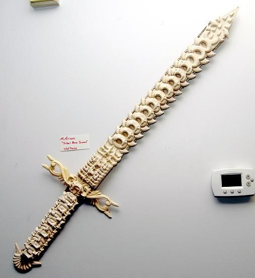 Tribal Bone Sword By Cuervolobo Fantasy Weapons Pinterest High Schools Schools And Art