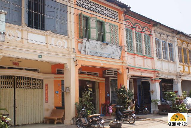 #Kampot heeft veel oude franse gebouwen en mooie architectuur.