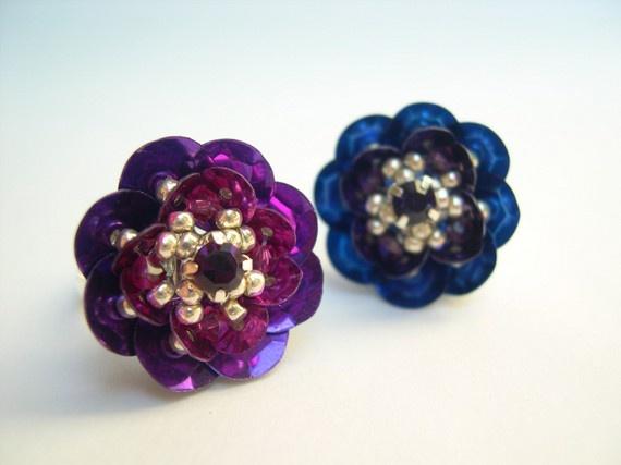 Best sequin flowers images on pinterest beading