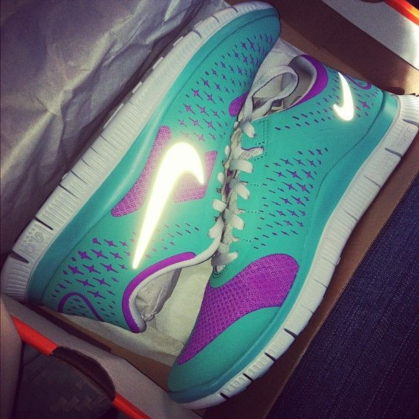 I am not a big sneakers/tennis shoe type of girl, BUT... I love the different girly types!! Nike Free Running 5.0 V4, nike free 3.0 v4, tiffany blue nikes, tiffany free runs, hot punch nike frees, pink nike shoes
