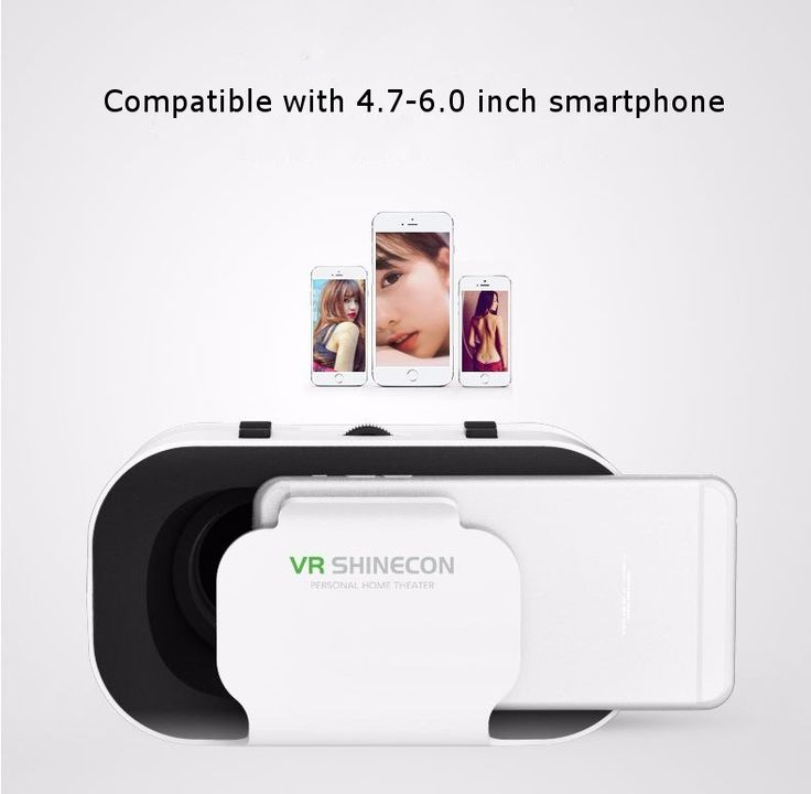 VR Shinecon Headband Headmount 3D Virtual Reality Glasses for 4.7-6.0 Inch Smart Phone Sale - Banggood.com