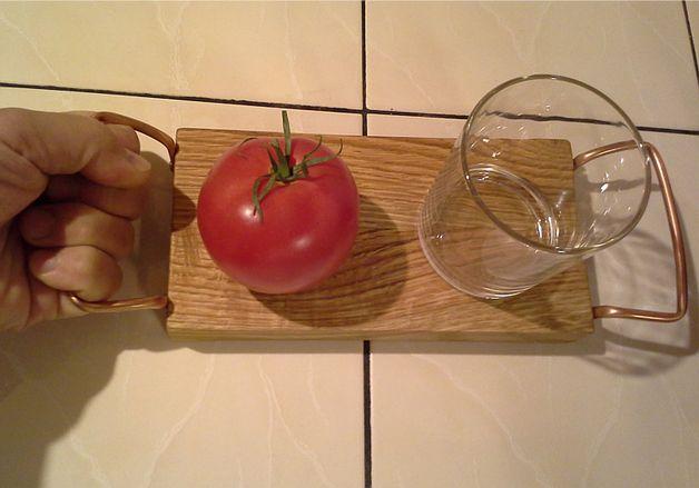 Deska do serwowania dębowa - czterolistnakoniczyna - Deski kuchenne