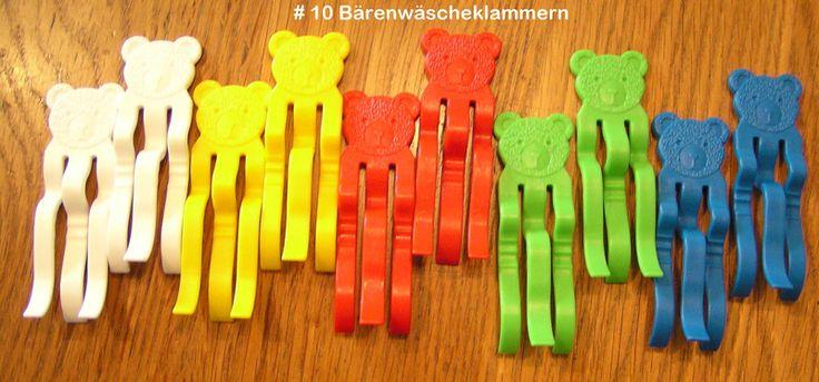 Weiteres - 10 Bärenwäscheklammern - NEU - RETRO Farbmix - ein Designerstück von Bastelkoenigin-de bei DaWanda