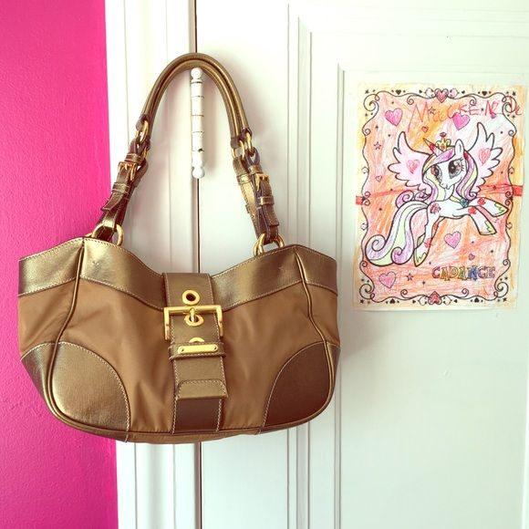 prada shopping bag nylon - ? Tan \u0026amp; Bronze Prada Bag ? Excellent used condition with barely ...