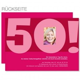 8 besten einladung 50ter geburtstag bilder auf pinterest, Einladungen