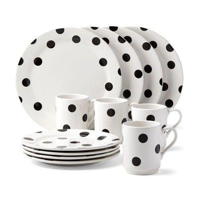 Kate Spade New York® Deco Dot 12-Piece Dinnerware Set #katespade #dinnerware #giftsforgrads