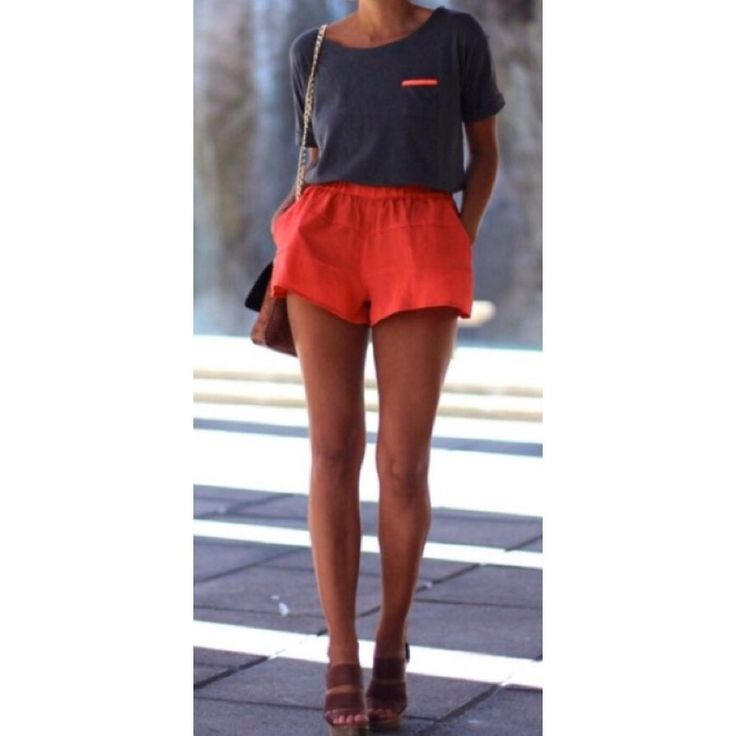BCBG Orange Shorts (XS)
