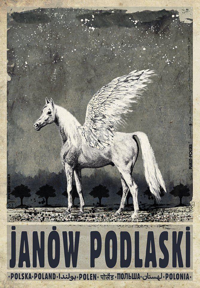 Janów Podlaski | Polish poster by Ryszard Kaja