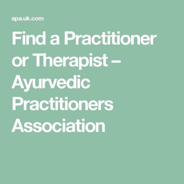 Find a Practitioner or Therapist – Ayurvedic Practitioners Association