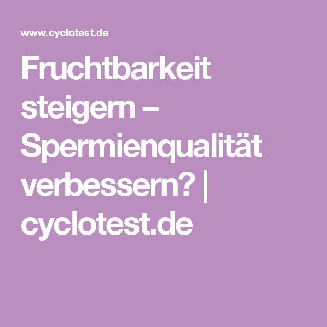 Fruchtbarkeit steigern – Spermienqualität verbessern? | cyclotest.de