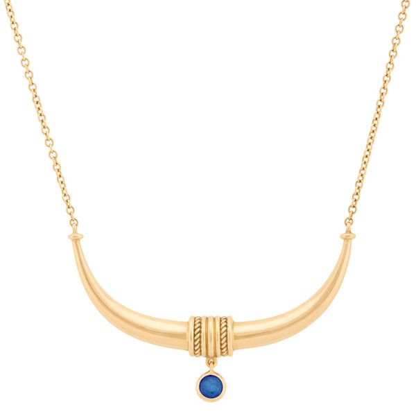 """AYA by Chelsy Davy """"""""Toka-Leya"""""""" Sapphire Necklace ($4,500) ❤ liked on Polyvore featuring jewelry, necklaces, sapphire pendant, twist jewelry, twisted necklace, dangle necklace and 18k necklace"""