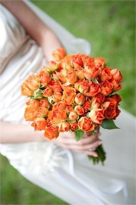 Oranje rozen - prachtig boeket