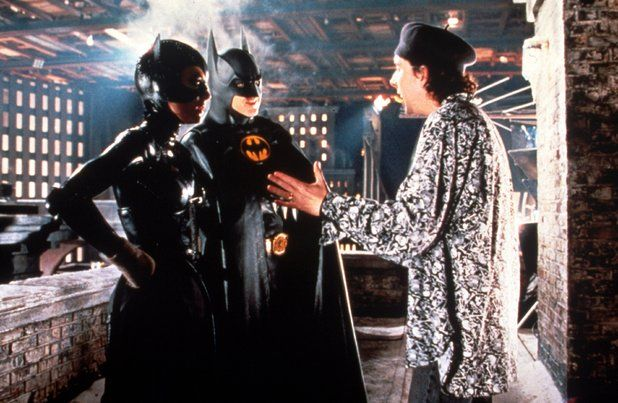 Behind the scenes of Batman Returns with director Tim Burton and lead cast Michael Keaton (Bruce Wayne) and Selina Kyle (Catwoman).